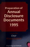 Preparation Of Annual Disclosure Documents Book PDF