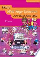 Basic Web Page Creation Using Word 2000-2002
