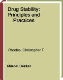 Drug Stability Book PDF