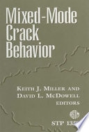 Mixed Mode Crack Behavior Book PDF