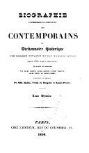 Biographie universelle et portative des contemporains; ou, Dictionnaire historique des hommes vivants et des hommes morts depuis 1788 jusqu'à nos jours