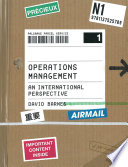 """""""Operations Management"""" by David Barnes"""