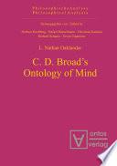 C  D  Broad s Ontology of Mind Book