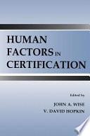 Human Factors In Certification