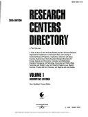 Research Centers Directory  Descriptive listings