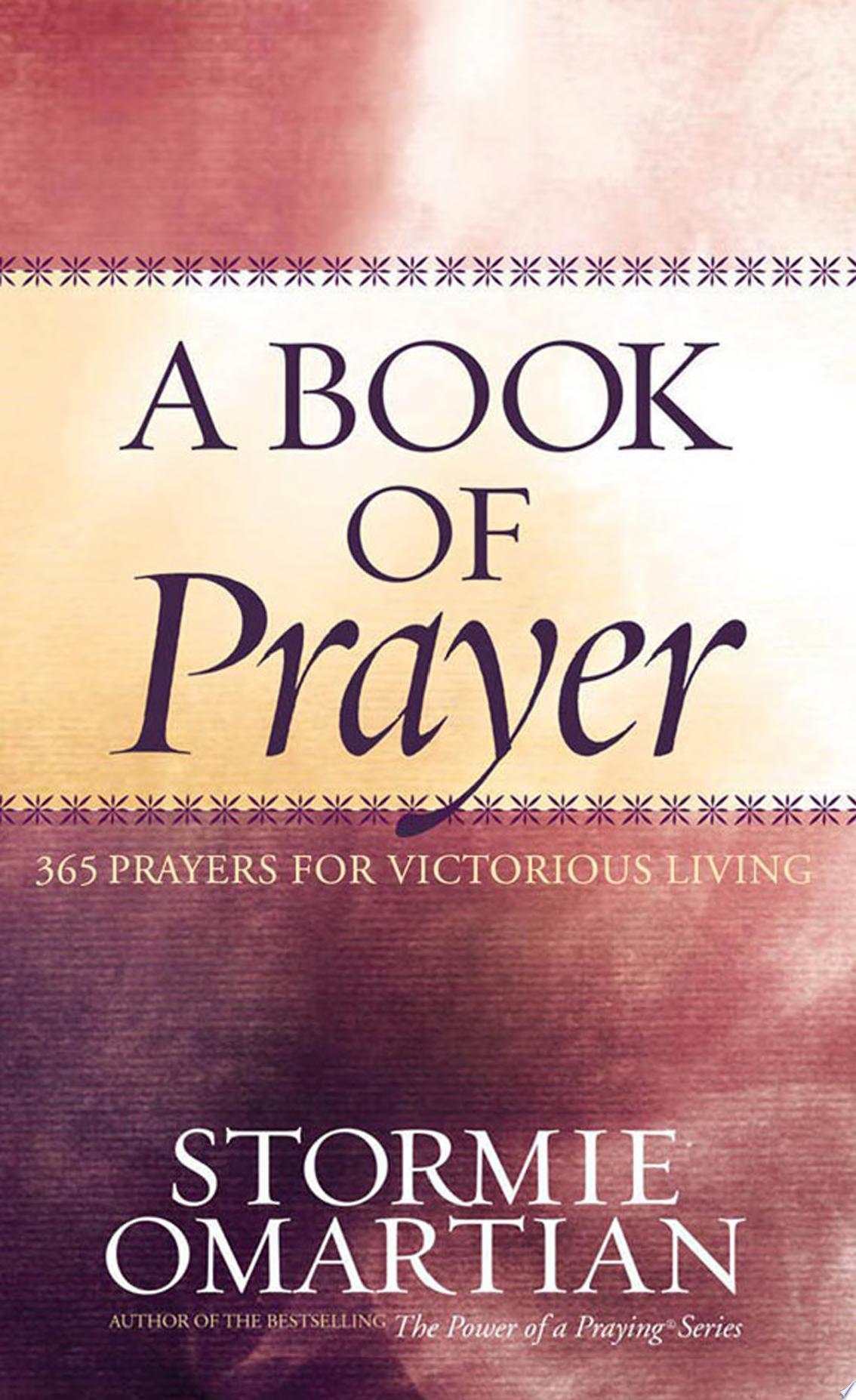 Book of Prayer  A