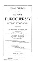 Duroc Jersey Swine Record Book