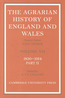 The Agrarian History Of England And Wales 2 Volume Set