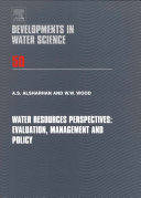 Water Resources Perspectives  Evaluation  Management and Policy