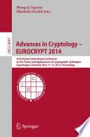 Advances in Cryptology     EUROCRYPT 2014