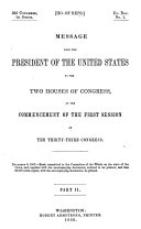 message from the president of the united states to the two houses of congress  at the commencement of the first session of the thirty third congress