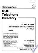 DOE Telephone Directory