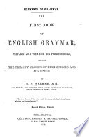 The First Book Of English Grammar