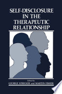 Self Disclosure in the Therapeutic Relationship