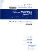 California Water Plan Update 2009  Resource management strategies