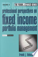 Professional perspectives on fixed income portfolio management  , Volume 3
