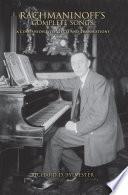 Rachmaninoff s Complete Songs