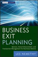 Business Exit Planning Pdf/ePub eBook