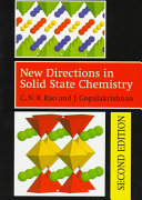 NEW DIRECTIONS IN SOLID STATE CHEMISTRY. 2nd edition, Edition en anglais