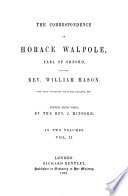 The Correspondence of Horace Walpole, Earl of Orford