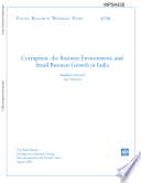 corruption, the business environment, and small business growth in india