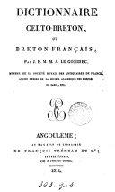 Dictionnaire celto-breton, ou breton-français