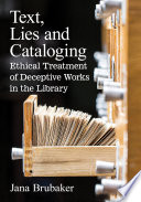 Text  Lies and Cataloging