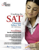 Cracking the SAT Chemistry Subject Test Book