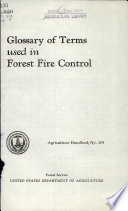 Glossary of Terms Used in Forest Fire Control Book