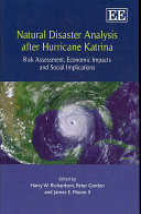 Natural Disaster Analysis After Hurricane Katrina Book