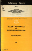 Recent Advances In Avian Anaesthesia