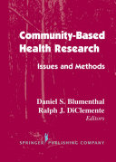 Community- Based Health Research: Issues and Methods - Seite 148