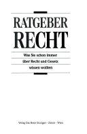 RATGEBER RECHT