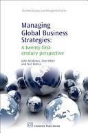 Managing Global Business Strategies Book