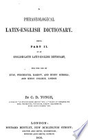 A phraseological Latin-English dictionary