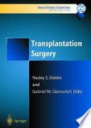 Transplantation Surgery Book