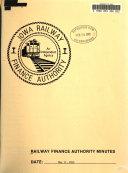 Railway Finance Authority Minutes Book