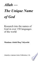 Allah, The Unique Name of God