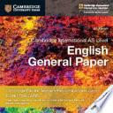 Cambridge International As Level English General Paper Cambridge Elevate Teacher's Resource Access Card