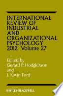 International Review of Industrial and Organizational Psychology 2012 Book