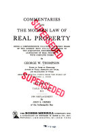 Commentaries on the Modern Law of Real Property