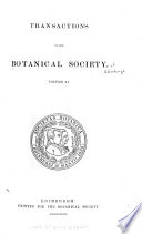 Transactions and Proceedings of the Botanical Society of Edinburgh Book