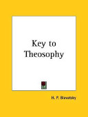 Key to Theosophy, 1890