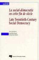 Pdf La social-démocratie en cette fin de siècle / Late Twentieth-Century Social Democracy Telecharger
