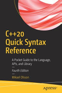 C  20 Quick Syntax Reference