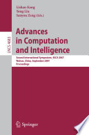 Advances in Computation and Intelligence Book