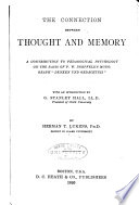 The Connection Between Thought and Memory Book