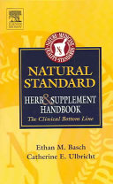 Natural Standard Herb & Supplement Handbook