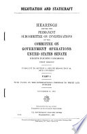 Negotiation and Statecraft  With panel on the international freedom to write and publish  November 18  1975