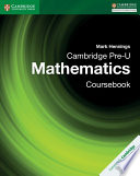 Books - Cambridge Pre-U Mathematics Coursebook | ISBN 9781316635759